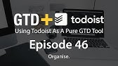 Setting Up Todoist - EP 21 - Keyboard Shortcuts - YouTube