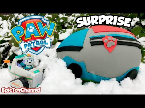 Thumbnail: PAW PATROL Toys in Giant Paw Patrol Play-Doh Surprise Egg of Paw Patroller with Everest + Blaze Toys
