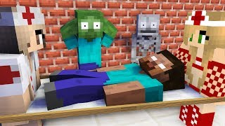 Monster School : THE TEACHER GOT SICK CHALLENGE - Minecraft Animation