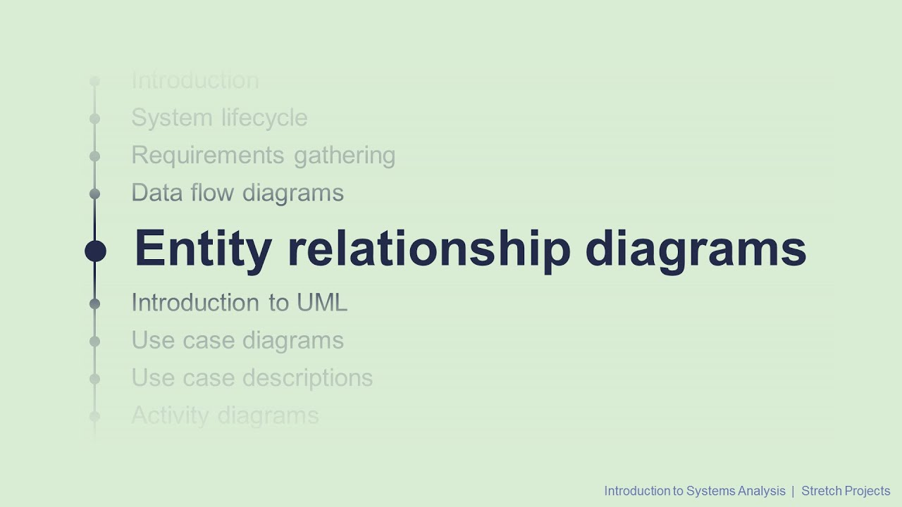 5 Entity Relationship Diagrams Intro To Systems Analysis Youtube