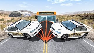 Crazy Police Chases #64 - BeamNG Drive Crashes