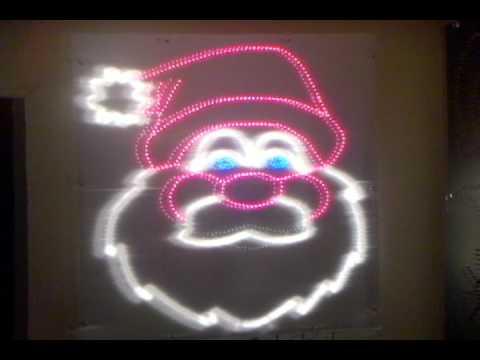 Animated Talking Santa Claus in Lights