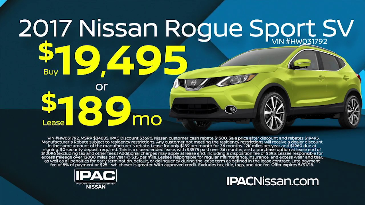 IPAC Nissan Is Here For You   Rogue Sport SV On Sale