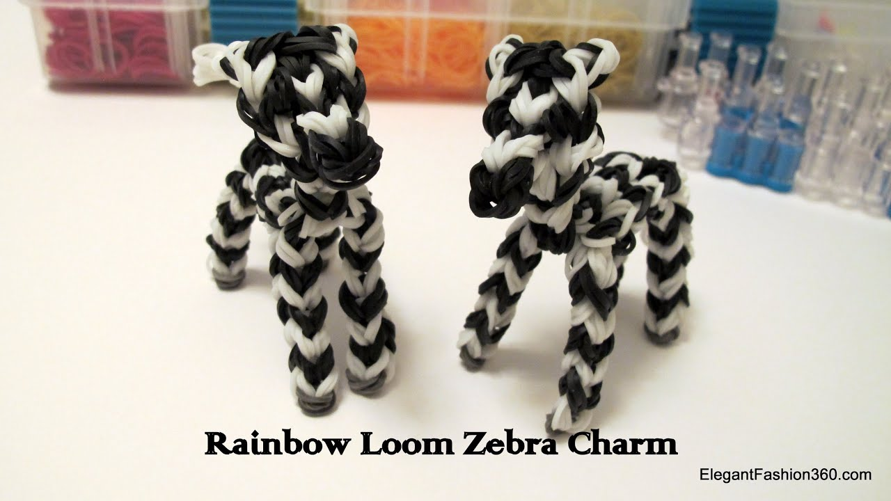 Bekannt Rainbow Loom Zebra/Horse/Pony Charm - How to - Animal Series - YouTube CZ72