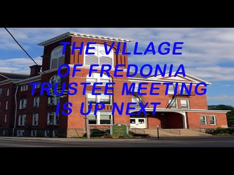 Fredonia Trustees Work Shop and Meeting October 5 , 2020
