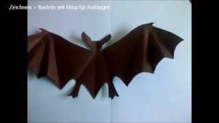 Halloween-Deko. Fledermaus aus Papier basteln. Einfach