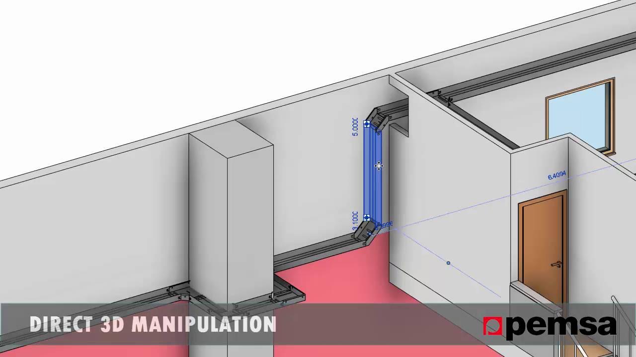 3D BIM Pemsa Cable trays Catalogue - YouTube