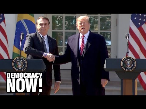 "Trump \u0026 Bolsonaro Join Forces To Back Regime Change In Venezuela \u0026 To Attack Media As ""Fake News"""