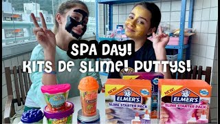 SLIME KITS TESTED ! PUTTY SLIMES TESTED ! SPA DAY WITH SLIMES ! BEST DAY EVER !