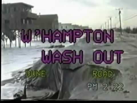 Westhampton NY Beach Dune Road Hurricane Gloria Aftermath - Recorded 10/29/87 (No Sound)