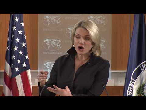 WATCH: Heather Nauert Department Press Briefing on President Donald Trump News - November 17, 2017