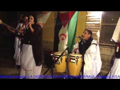 Grupo musical Western Sahara. Latifag3i ya saguia. Musica saharaui. Baile saharaui.Sahara Occidental