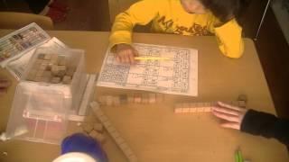 鶴田式算数教育 年中さんが積木を使って繰り上がりの勉強をしています。...