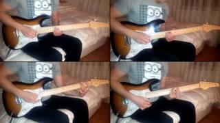AMEL ĆURIĆ feat. EMINA JAHOVIĆ SANDAL - KOST (Split screen guitar cover)