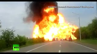 Blast Video: Massive truck explosion in Southern Russia
