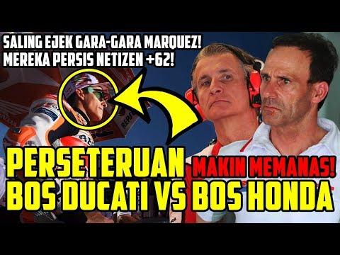 MIRIP NETIZEN +62!! SALING EJEK GARA-GARA MARQUEZ, PERSETERUAN BOS DUCATI VS BOS HONDA MAKIN MEMANAS