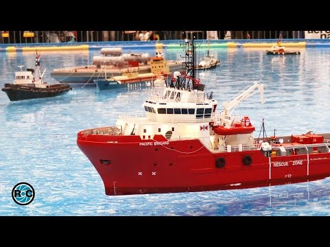 RC MODEL SCALE OFFSHORE SPECIAL BOATS & SHIPS ACTION * Messe Leipzig *