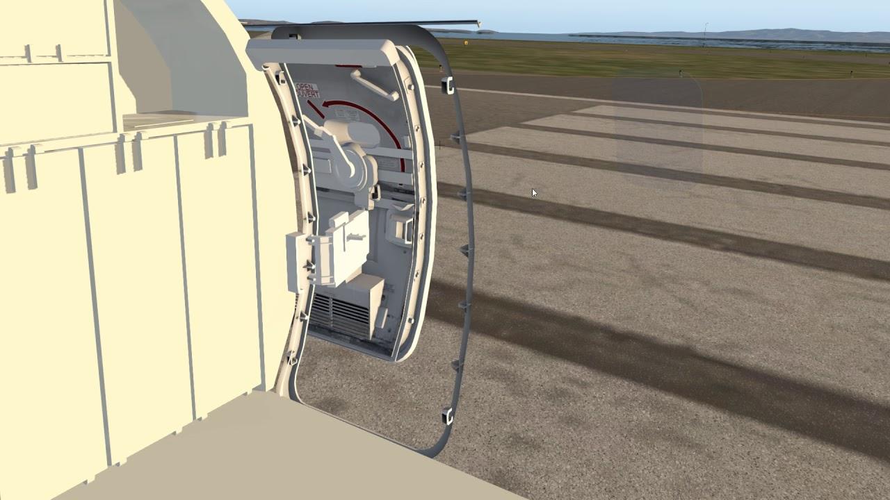 SSG CRJ-700 Service Door Animation Edit X Plane 5 12 2018