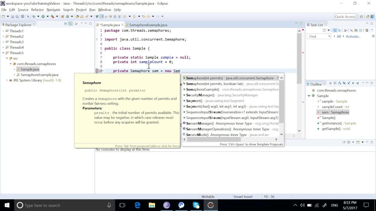 Java Semaphore Example   Java Multithreading Semaphore