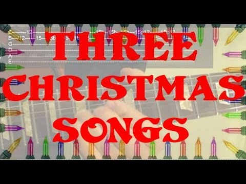 How to Play THREE Christmas Songs as Solos ( Guitar Lesson ) by BobbyCrispy