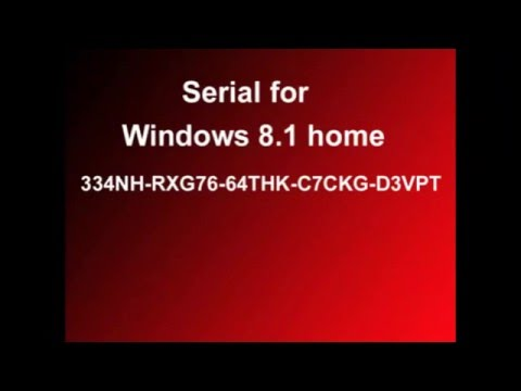 Universal Serial Windows 8.1 - Clef de licence Windows 8.1 - Activation key crack