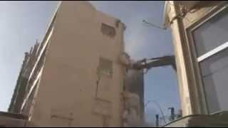 ברק נדלן כנפי נשרים 17 רמת גן הריסת הבניין הישן