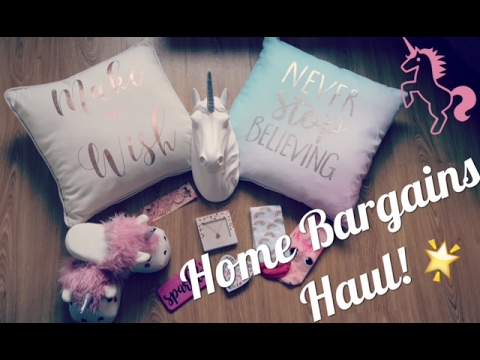 UNICORN THEMED HOME BARGAINS HAUL! JANUARY 2017 // My Happy Ever After