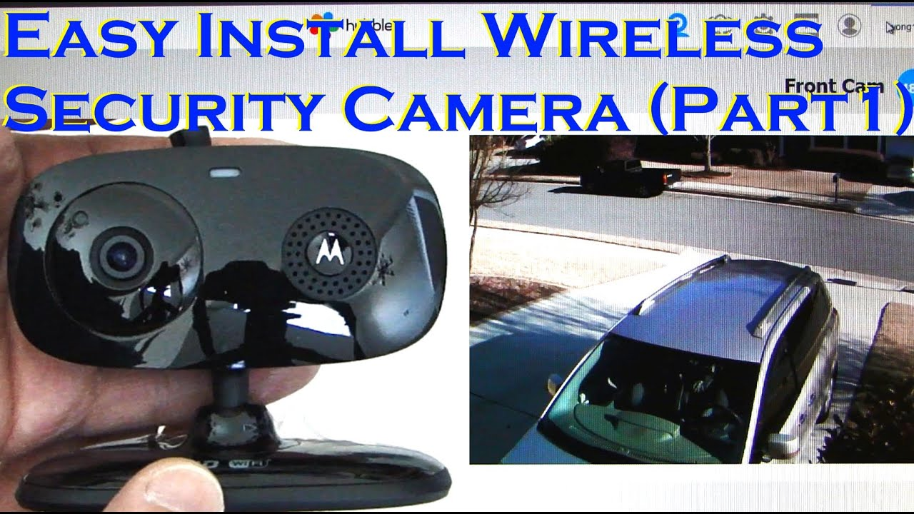 Easy Install Wireless Home Security Camera Motion