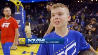 11-Year-Old Kid Shows Off His Handles on Warriors Ground thumbnail