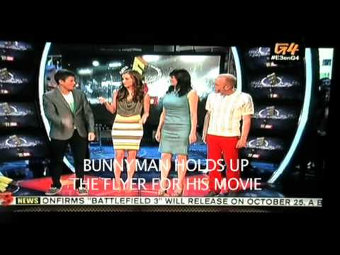 """Bunnyman on TV """"E3 2011"""" + Morgan Webb's Ass + Attack of the Show + X-Play"""