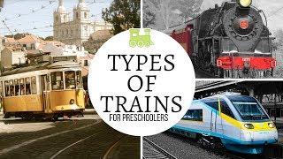 Types of trains for Preschoolers   Kindergarten