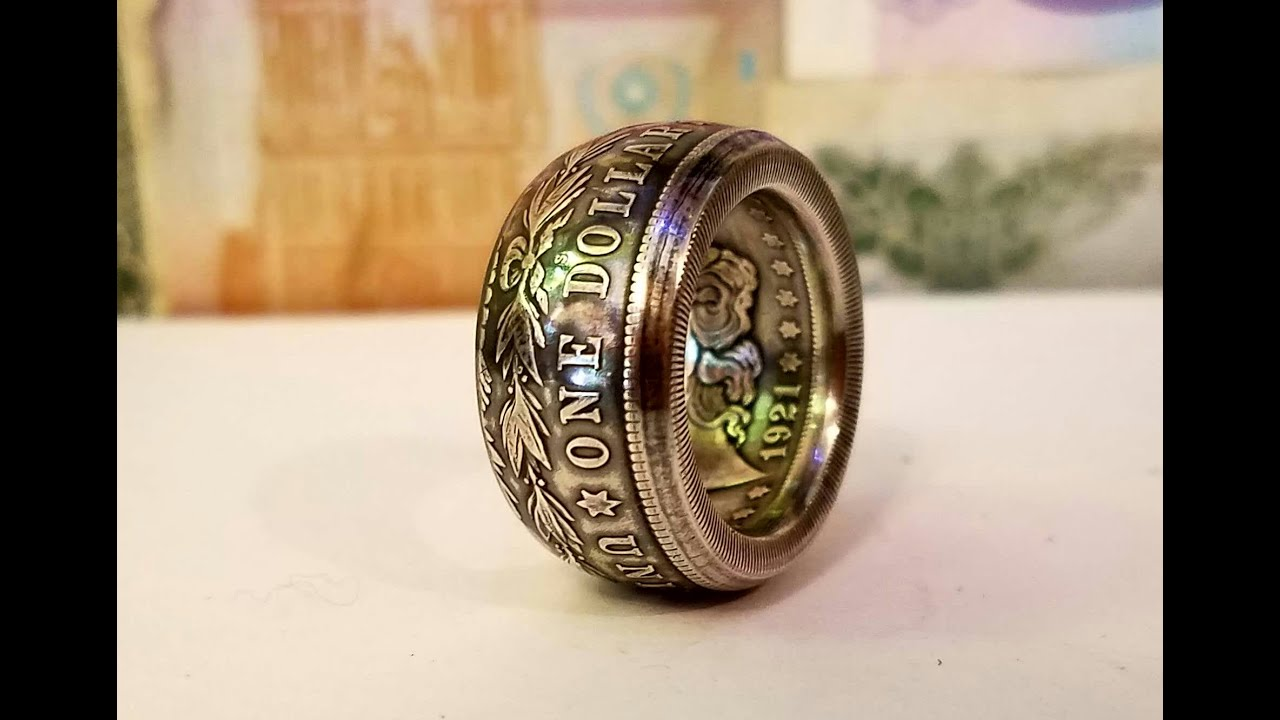 How to make small coin rings from large coins (Swedish wrap)