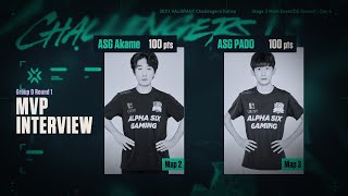 ASG Akame, PADO - MVP Interview Main Event DE Round Day4 GroupD Match2 07.23 VALORANT Challengers KR