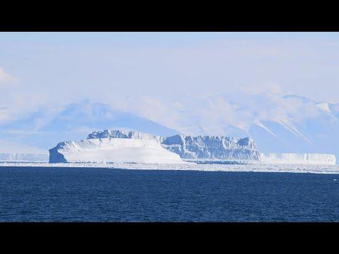 Iceberg size of Delaware breaks off from ice shelf; City-sized iceberg breaks - Compilation
