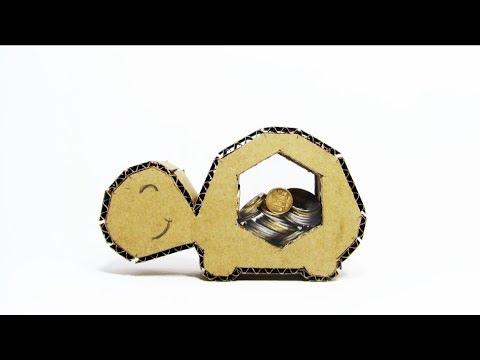 EASY DIY: Decorative Coin Bank Box from Cardboard DIY - Yakomoga