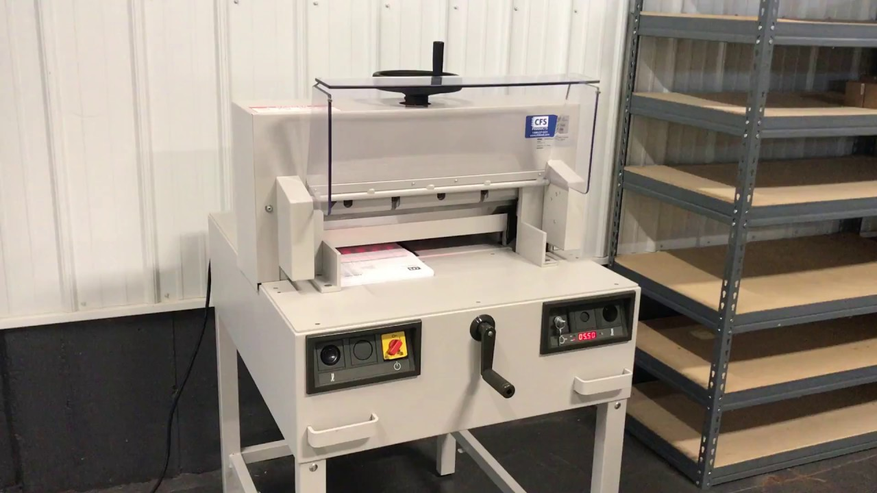 used triumph 4810 95 paper cutter sn 4108999 youtube