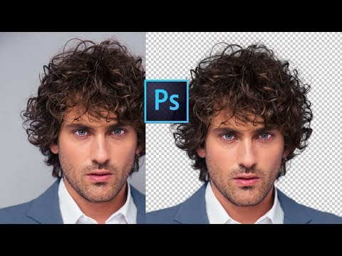 CUT OUT HAIR FROM BG   PHOTOSHOP TUTORIAL IN ENGLISH