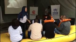 Intervenção urbana do ACNUR, Caritas SP e e Associação Compassiva