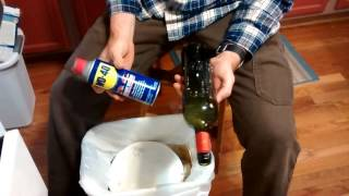The BEST way to remove labels from wine bottles