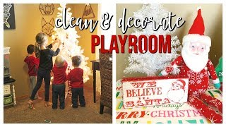 VLOGMAS #1   CLEAN & DECORATE THE PLAYROOM FOR CHRISTMAS!