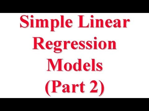 CSE567-13-14B: Simple Linear Regression Models for Computer Systems Performance Evaluation