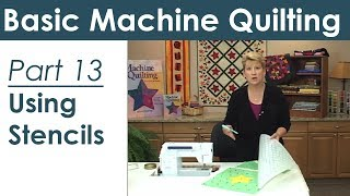 Using a Stencil for Machine Quilting