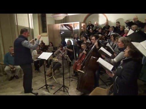 Messe in C Anton Bruckner Probe in St. Petrus in Wolfenbüttel Weihnachten 2015