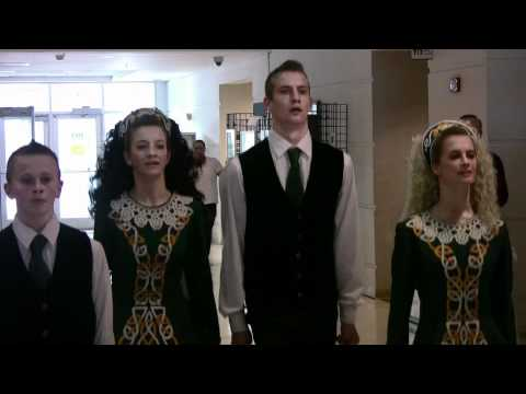 Hanson family Irish-Dancing at One Bergen Plaza, Hackensack, Nj