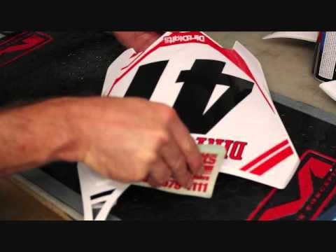 How to: Clean and Install Front Plate Dirt Bike Graphics (Honda CRF450 2013)
