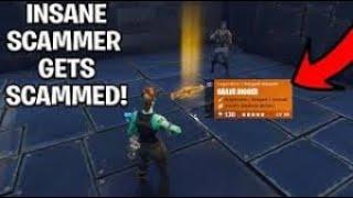 SCAMMER GETS SCAMMED HARD! Fortnite scammer gets scammed #1