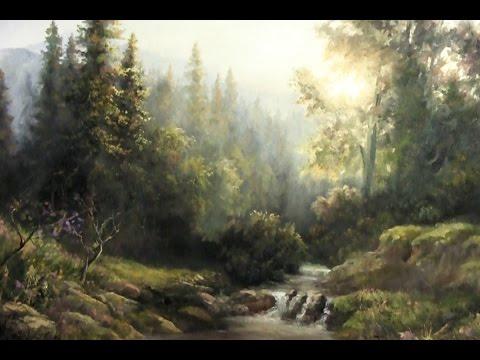 Forest Sunlight   Landscape Painting Demo