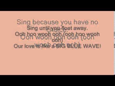 hey ocean big blue wave lyrics ( the fosters)
