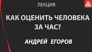 Использование индивидуальных психологических отличий в бизнесе.  Егоров Андрей