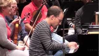 Orion Weiss Grieg piano concerto Winston-Salem Symphony open rehearsal